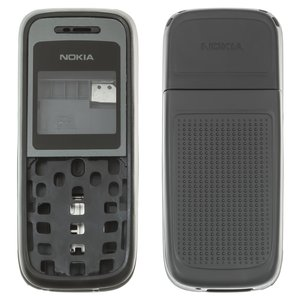 Housing for Nokia 1208 Cell Phone, (high copy, black, with housing middle part )