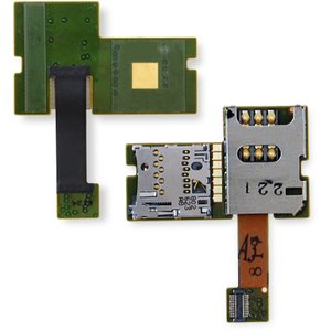 SIM Card Connector for Nokia E51 Cell Phone, (with memory card connector, with flat cable)