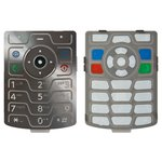 Keyboard for Motorola V3 Cell Phone, (silver, english)