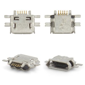 Charge Connector for Nokia E52, E55, N97, N97 Mini Cell Phones, (5 pin, micro USB type-B)
