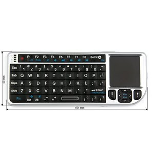 Wireless Ultra Mini Keyboard with Touchpad (Silver)