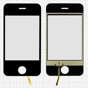 Touchscreen for China-iPhone 4, 4s Cell Phones, (87 mm, type 1, (110*57mm), (72*49mm)) #0010F-04