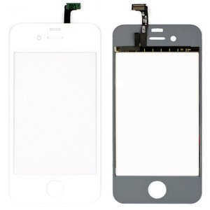 Touchscreen for Apple iPhone 4 Cell Phone, (white)