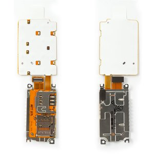Keyboard Module for Nokia X3-02 Cell Phone, (with memory card connector, with SIM-card connector)
