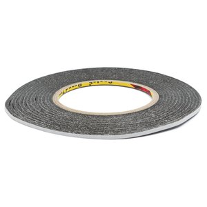 Double-sided Adhesive Tape 3M, (black, 3 mm, for sensors/displays sticking, 0,07 mm, 50m)