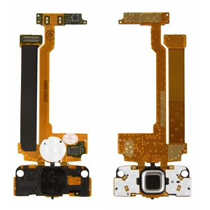 Flat Cable for Nokia N96 Cell Phone, (copy, for mainboard, with upper keypad module, with camera, with components)