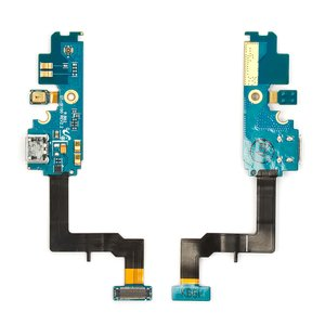 Flat Cable for Samsung I9100 Galaxy S2 Cell Phone, (charge connector, microphone, with components, rev 2.3)