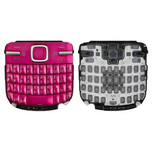 Keyboard for Nokia C3-00 Cell Phone, (pink, russian)