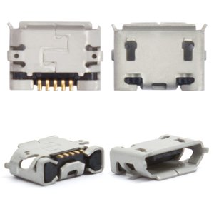 Charge Connector for Sony Ericsson U8 Cell Phone, (5 pin, micro USB type-B)