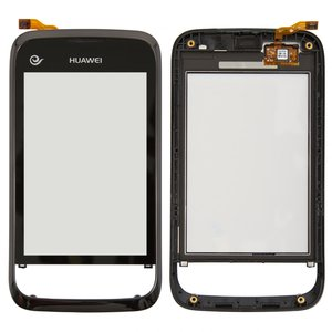 Touchscreen for Huawei M860 Cell Phone, (with frame, black)