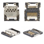 Memory Card Connector for Nokia 3109c, 3110c, 3500, 3610f, 3720c, 5500, 6555, 7373, 7500 Cell Phones
