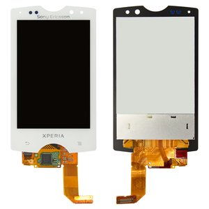 LCD for Sony Ericsson SK17 Cell Phone, (white, with touchscreen)