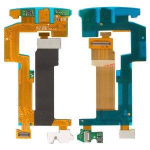 Flat Cable for Blackberry 9810 Cell Phone, (for mainboard, with components)