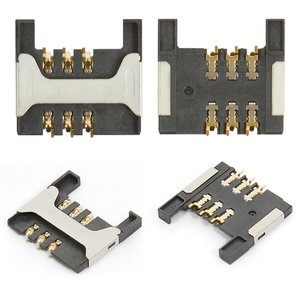SIM Card Connector for Blackberry 8800, 8820, 8830, 9000 Cell Phones