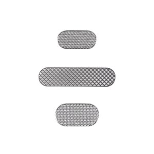Metal Protective Filter for Apple iPhone 3G, iPhone 3GS Cell Phones, (full set, (grid))