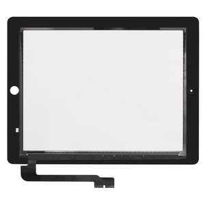 Touchscreen for Apple iPad 3, iPad 4 Tablets, (black)