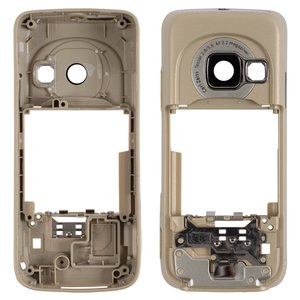 Housing Middle Part for Nokia N73 Cell Phone, (golden, without components)