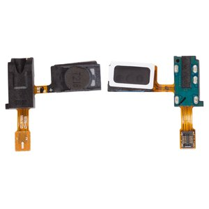 Handsfree Connector for Samsung I9220 Galaxy Note, N7000 Note Cell Phones, (with speakers, with flat cable)