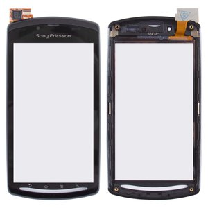 Touchscreen for Sony Ericsson R800, Z1 Cell Phones, (with front panel, black)