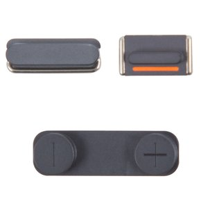 Housing Side Button Plastic for Apple iPhone 5 Cell Phone, (full set, black)