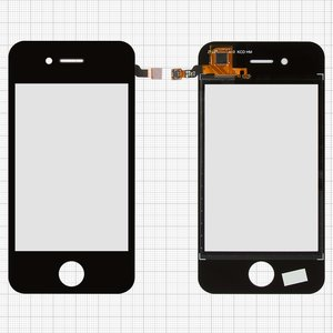 Touchscreen for China-iPhone 4, 4s Cell Phones, (capacitive, black, 89 mm, type 1, (112*56mm), (74*50mm)) #ST-035-G10N-KS/MCG-035-0106-FPC