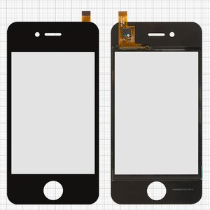 Touchscreen for China-iPhone 4, 4s Cell Phones, (capacitive, black, 90mm, type 9, (112*57mm), (75*50mm)) #SG-WX03511