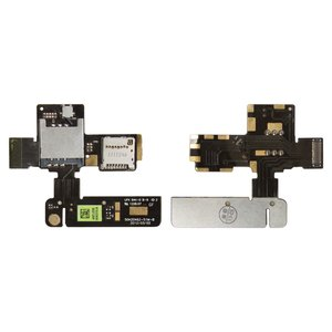 SIM Card Connector for HTC G24, T320e One V  Cell Phones, (with memory card connector, with flat cable)