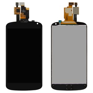LCD for LG E960 Nexus 4 Cell Phone, (black, with touchscreen)