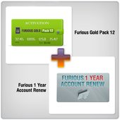 Furious 1 Year Account Renew + Furious Gold Pack 12