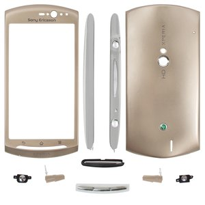 Housing for Sony Ericsson MT11i Xperia neo V, MT15i Xperia Neo Cell Phones, (golden)