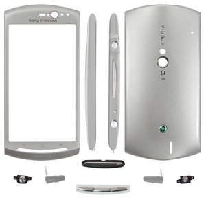 Housing for Sony Ericsson MT11i Xperia neo V, MT15i Xperia Neo Cell Phones, (silver)