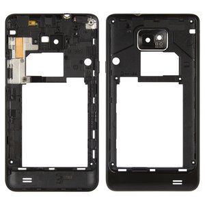 Housing Middle Part for Samsung I9100 Galaxy S2 Cell Phone, (black)