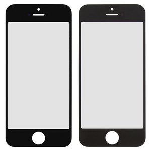 Housing Glass for Apple iPhone 5, iPhone 5C, iPhone 5S, iPhone SE Cell Phones, (black)