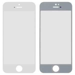 Housing Glass for Apple iPhone 5, iPhone 5S, iPhone SE Cell Phones, (white)