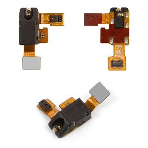 Handsfree Connector for LG P880 Optimus 4X HD Cell Phone, (with flat cable)