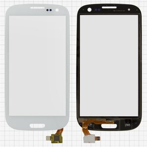 Touchscreen for China-Samsung I9300, S3 Cell Phones, (capacitive, white, (133*68mm), (105*59mm)) #TP3004/MD-CTP010-B1