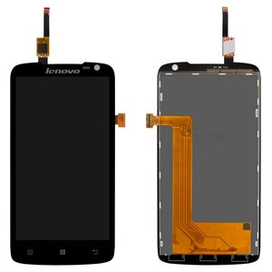 LCD for Lenovo S820 Cell Phone, (black, with touchscreen) #AT047IC00005/Synaptics