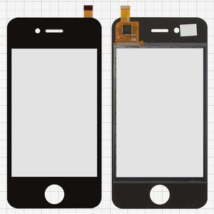 Touchscreen for China-iPhone 4, 4s Cell Phones, (capacitive, black, 90mm, type 15, (112*57mm), (75*50mm)) #CY8C214/D9145