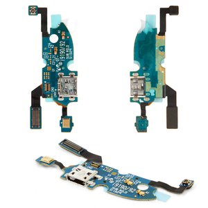 Flat Cable for Samsung I9190 Galaxy S4 mini, I9192 Galaxy S4 Mini Duos, I9195 Galaxy S4 mini Cell Phones, (charge connector, microphone, with components)