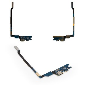 Flat Cable for Samsung I9505 Galaxy S4 Cell Phone, (charge connector, microphone, with components)