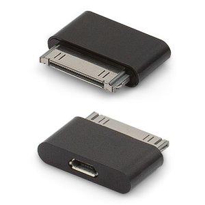 Micro USB To 30 Pin Adapter For Apple IPhone 2G 3G 3GS 4 4S Cell PhonesApple IPad 2 3 TabletsApple IPod Mini