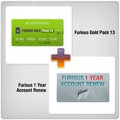 Furious 1 Year Account Renew + Furious Gold Pack 13