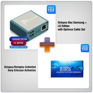 Octopus Box Samsung + LG Edition with Optimus Cable Set ( 19pcs. ) +  Octopus Unlimited Sony + Sony Ericsson Activation