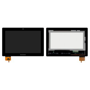 LCD for Lenovo IdeaPad S6000 Tablet, (black, with touchscreen) #BP101WX1-206/MCF-101-0887-V2