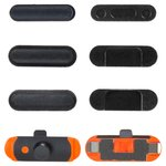 Side Buttons Plastic for Apple iPad Mini 2 Retina Tablet, (full set, black)