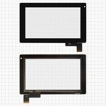 "Touchscreen for China-Tablet PC 7""; GoClever Tab R74; Prestigio MultiPad 7.0 Ultra (PMP3370B) Tablets, (7"", 187 mm, 112 mm, 51 pin, capacitive, black) #HOTATOUCH C097162A1/DRFPC065T-V1.0/0285-V01"