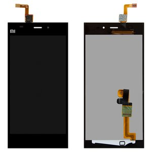 LCD for Xiaomi Mi3 Cell Phone, (black, with touchscreen)