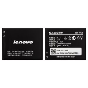 Battery BL171 for Lenovo A319, A356, A368, A370e, A376, A390, A500, A60, A65 Cell Phones, (Li-ion, 3.7 V, 1500 mAh)
