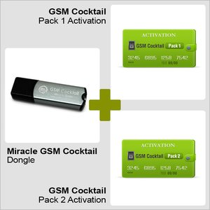 Miracle GSM Cocktail Dongle with Activated Packs 1 and 2