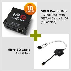 SELG Fusion Box SE Tool Pack with SE Tool Card v1.107  (10 cables)  + Micro SD Cable for LGTool